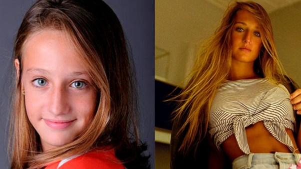 A atriz Bruna Griphao em seu antes e depois de Avenida Brasil (Foto: Reprodução/Montagem)