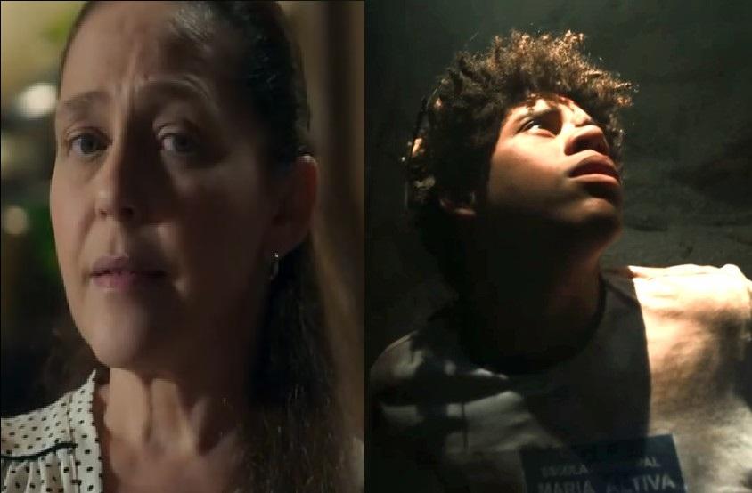 Judith e Feijão em O Sétimo Guardião (Foto: Reprodução/ Globo)