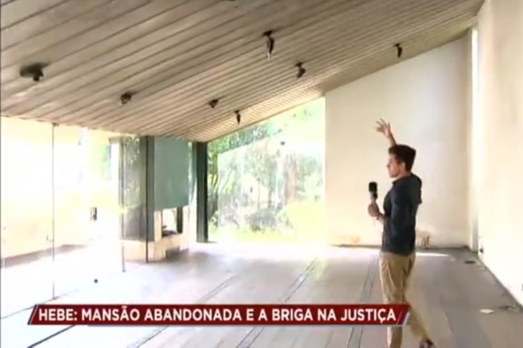 Mansão de Hebe Camargo/Reprodução Record