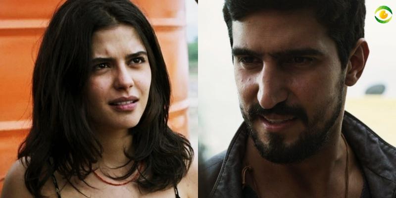 Laila e Jamil em Órfãos da Terra (Foto: Montagem/TV Foco)