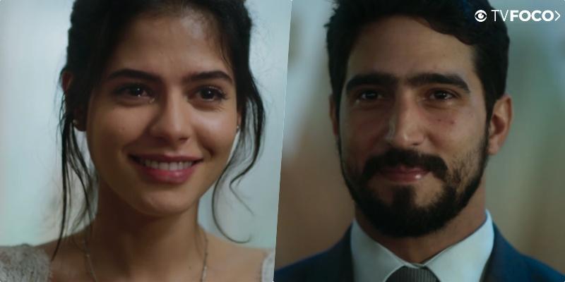 Casamento dos mocinhos de Órfãos da Terra Laila (Julia Dalavia) E Jamil (Renato Góes) foi emocionante