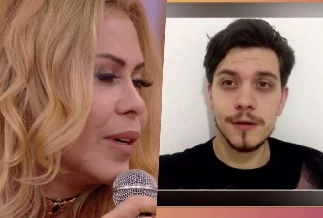 Filho gato de Joelma rouba a cena durante o Encontro na Globo