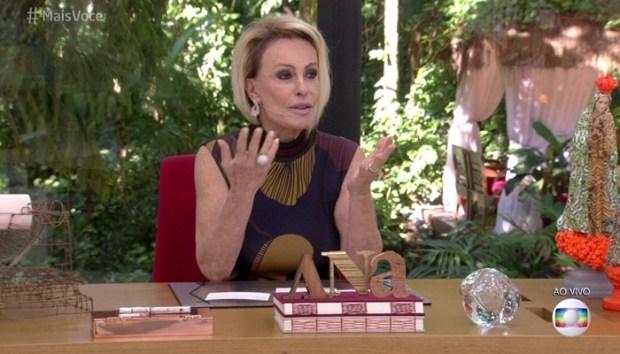 Ana Maria Braga criticou Shallow Now de Paula Fernandes no Mais Você (Foto: Reprodução/Globo)