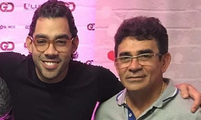 Gabriel Diniz e o pai (Foto: Reprodução)