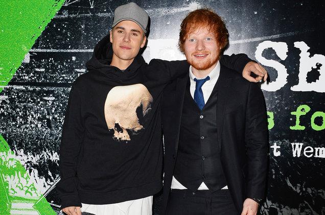 Justin Bieber e Ed Sheeran (Foto: Reprodução)