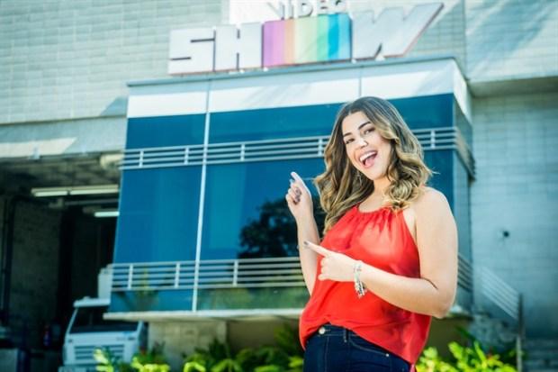 Vivian Amorim no Vídeo Show (Foto: Globo/Raquel Cunha)