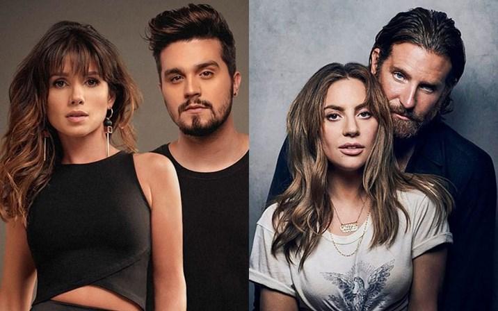 Paula Fernandes e Luan Santana / Bradley Cooper e Lady Gaga (Foto: Montagem/Divulgação)