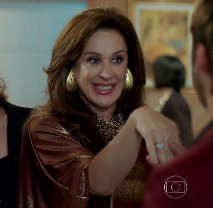 Lidiane (Claudia Raia) em cena na novela Verão 90. (Foto: Reprodução)