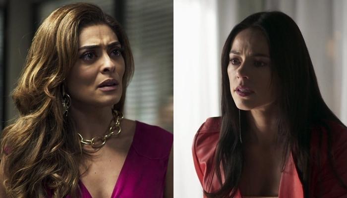 Maria da Paz (Juliana Paes) é humilhada por Vivi (Paolla Oliveira) em A Dona do Pedaço (Foto: Reprodução/Globo)