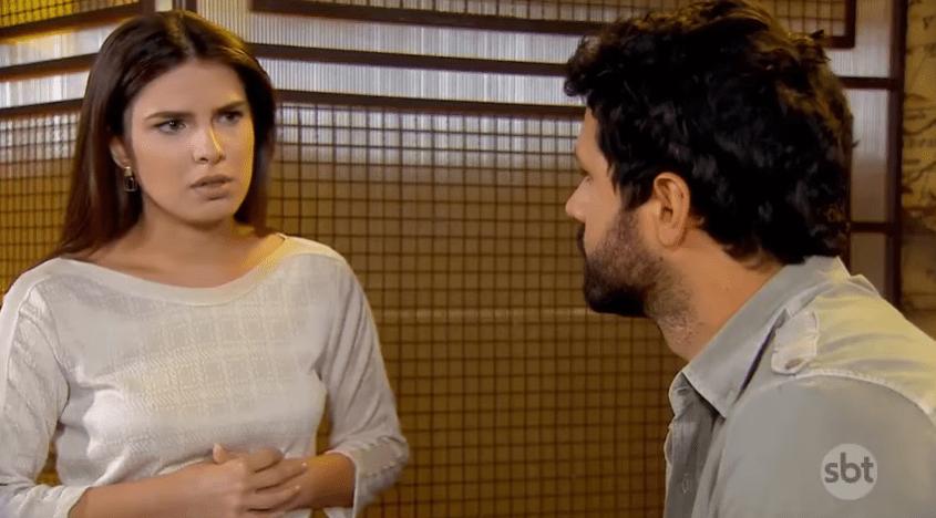 Luísa (Thaís Melchior) e Marcelo (Murilo Cezar) em As Aventuras de Poliana. (Foto: Reprodução/SBT))