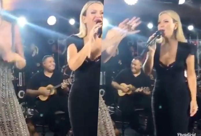 """Eliana subiu no palco do aniversário de Luciana Cardoso, esposa de Faustão e cantou a música: """"Vai tomar no c%"""""""