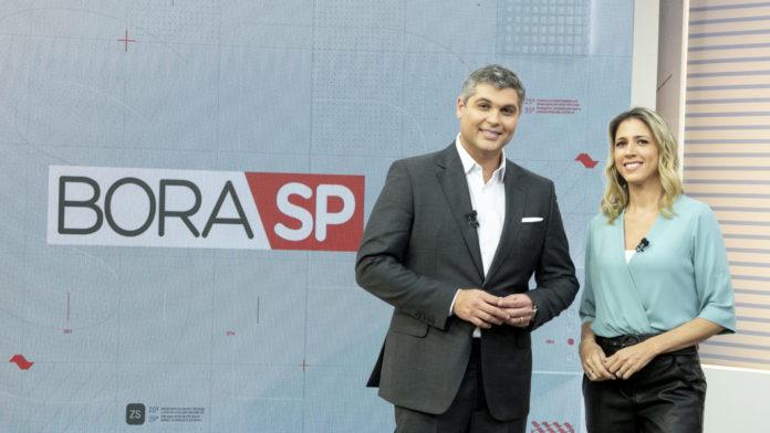 Joel Datena e Laura Ferreira, apresentadores do Bora SP (Divulgação/Band)
