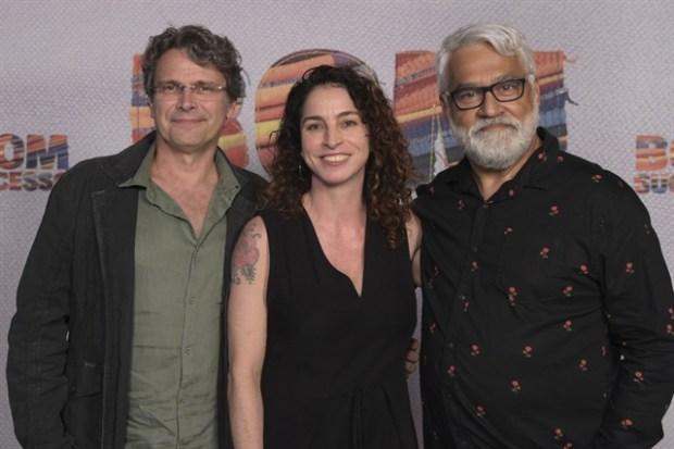 O diretor artístico Luiz Henrique Rios com os autores Rosane Svartman Paulo Halm no lançamento de Bom Sucesso (Foto: Globo/Estevam Avellar)