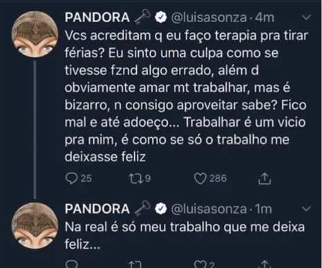 Luísa Sonza fala sobre vício em seu Twitter (Foto: Reprodução)