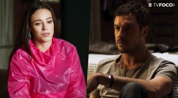Vivi (Paolla Oliveira) não ouvirá a verdade sobre Chiclete (Sergio Guizé) em A Dona do Pedaço (Foto: Reprodução/Globo)
