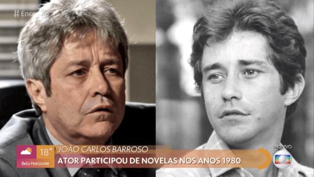 O ator João Carlos Barroso, que foi homenageado por Lúcio no Encontro (Foto: Reprodução/Globo)