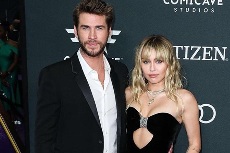 Miley Cyrus e Liam Hemsworth (Foto: Reprodução)