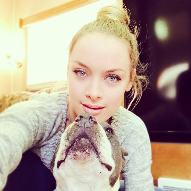 Rachel Skarsten with dog