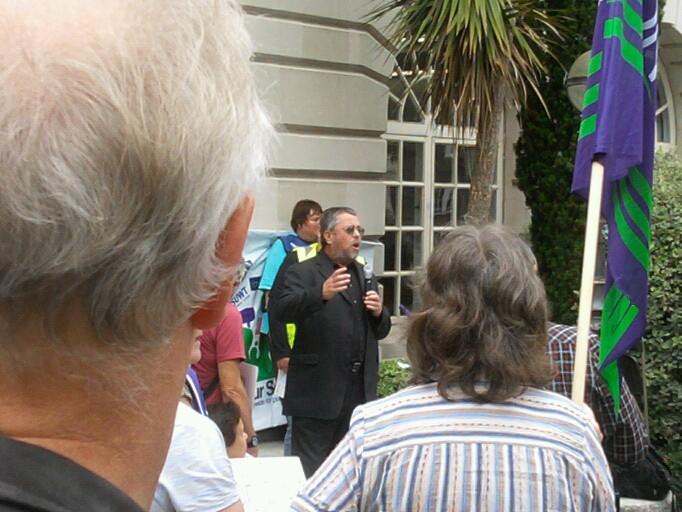 Alan Gibbons at Surrey County Hall