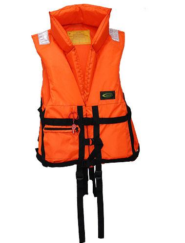 """Жилет спасательный Vostok """"ПР"""" с воротником, цвет: оранжевый, размер 52-56, вес до 100 кг"""