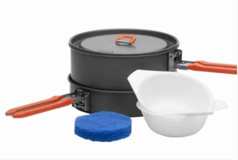 """Набор походной посуды Fire-Maple """"Feast 1"""", цвет: металлик, оранжевый, 6 предметов"""