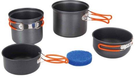 """Набор походной посуды """"Fire-Maple"""", цвет: металлик, оранжевый, 5 предметов"""
