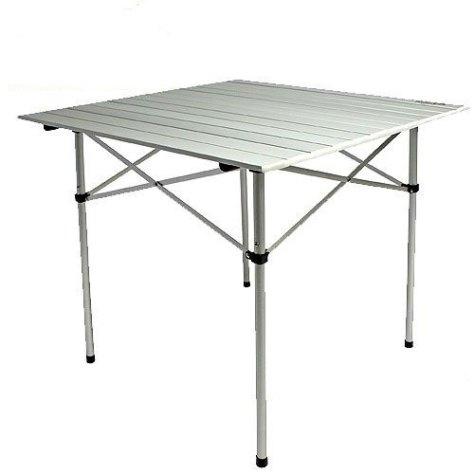 "Стол складной Norfin ""Glomma-S NF Alu"", цвет: серый, 70 см х 70 см х 70 см"