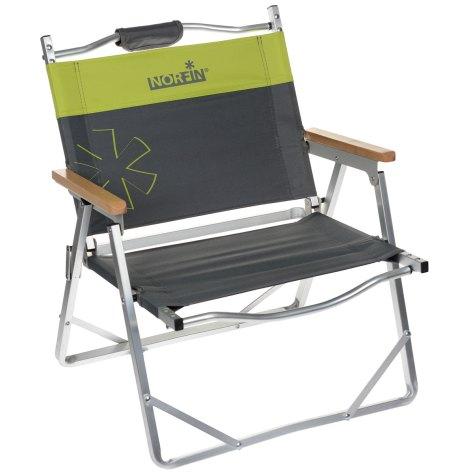 "Кресло складное Norfin ""Alesund NF Alu"", цвет: серый, желтый, 47 см х 54 см х 62 см"