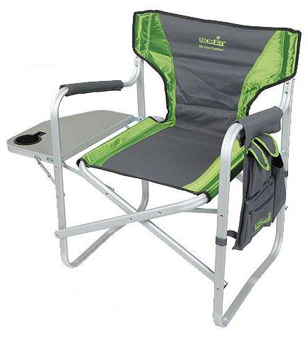 "Кресло складное Norfin ""Risor NF Alu"", цвет: серый, зеленый, 47 см х 42 см х 80 см"