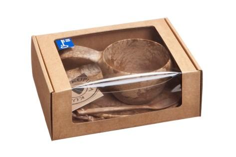 "Набор посуды Kupilka ""Gift Box"", цвет: коричневый, 3 предмета"