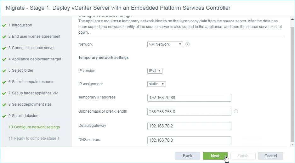 Upgrading vCenter Server