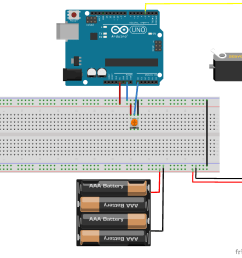 in this project we will use the potentiometer to control the position of the servo motor notice that the potentiometer uses the 5v power source from the  [ 1999 x 1816 Pixel ]