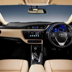 New Corolla Altis Grande Harga Yaris Trd Sportivo Interior Changes In The Facelifted Toyota 2017 ...