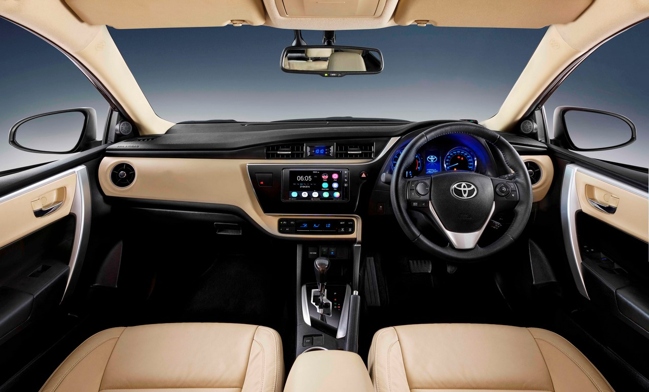new corolla altis grande yaris cvt trd interior changes in the facelifted toyota 2017