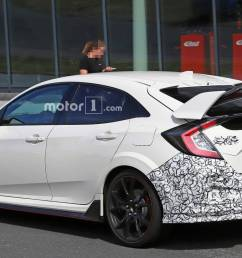 honda civic 2019 type r spy shots 4  [ 1920 x 1080 Pixel ]
