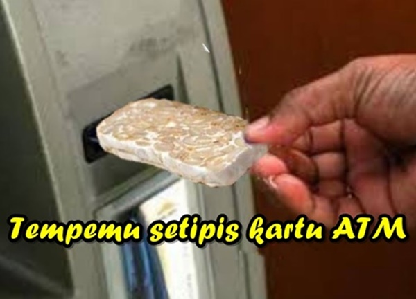 6 Gambar Meme Ngakak Tempe Setipis Kartu ATM Yang Di Kata Oleh Sandiaga Uno !!!