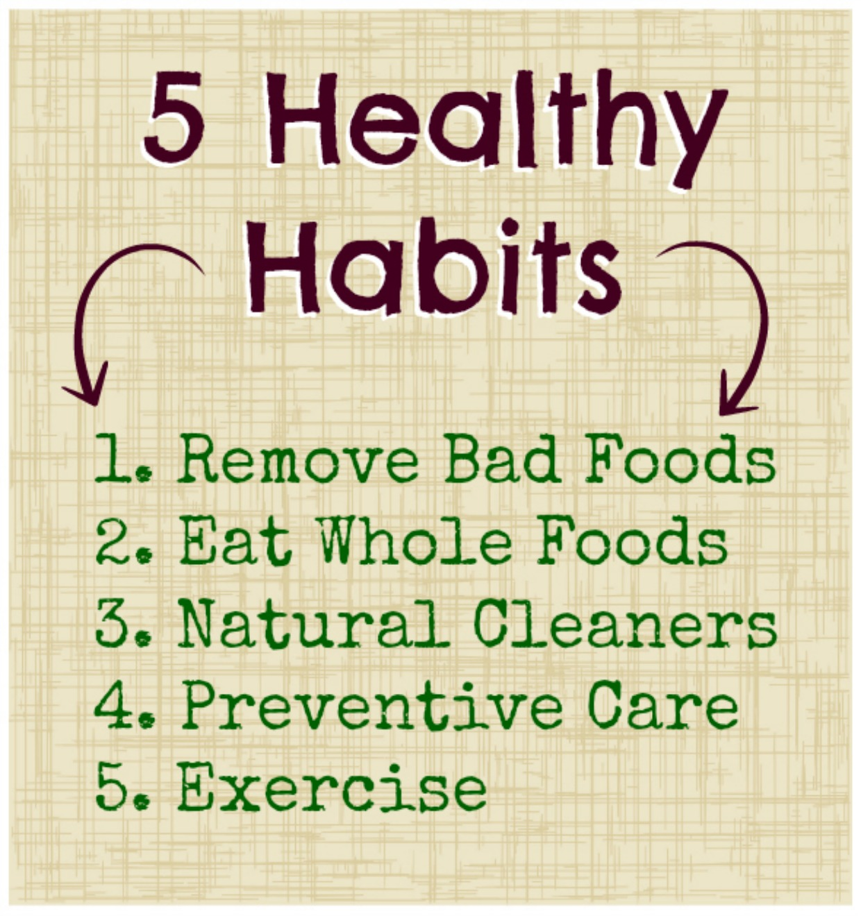 5 Healthy Habits For You Amp Your Family