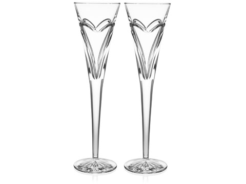 Love and Romance Toasting Flutes