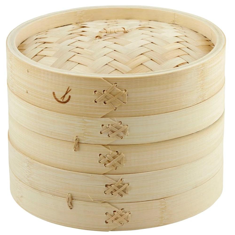Davis  Waddell  Asia One 2 Tier Bamboo Steamer 20cm