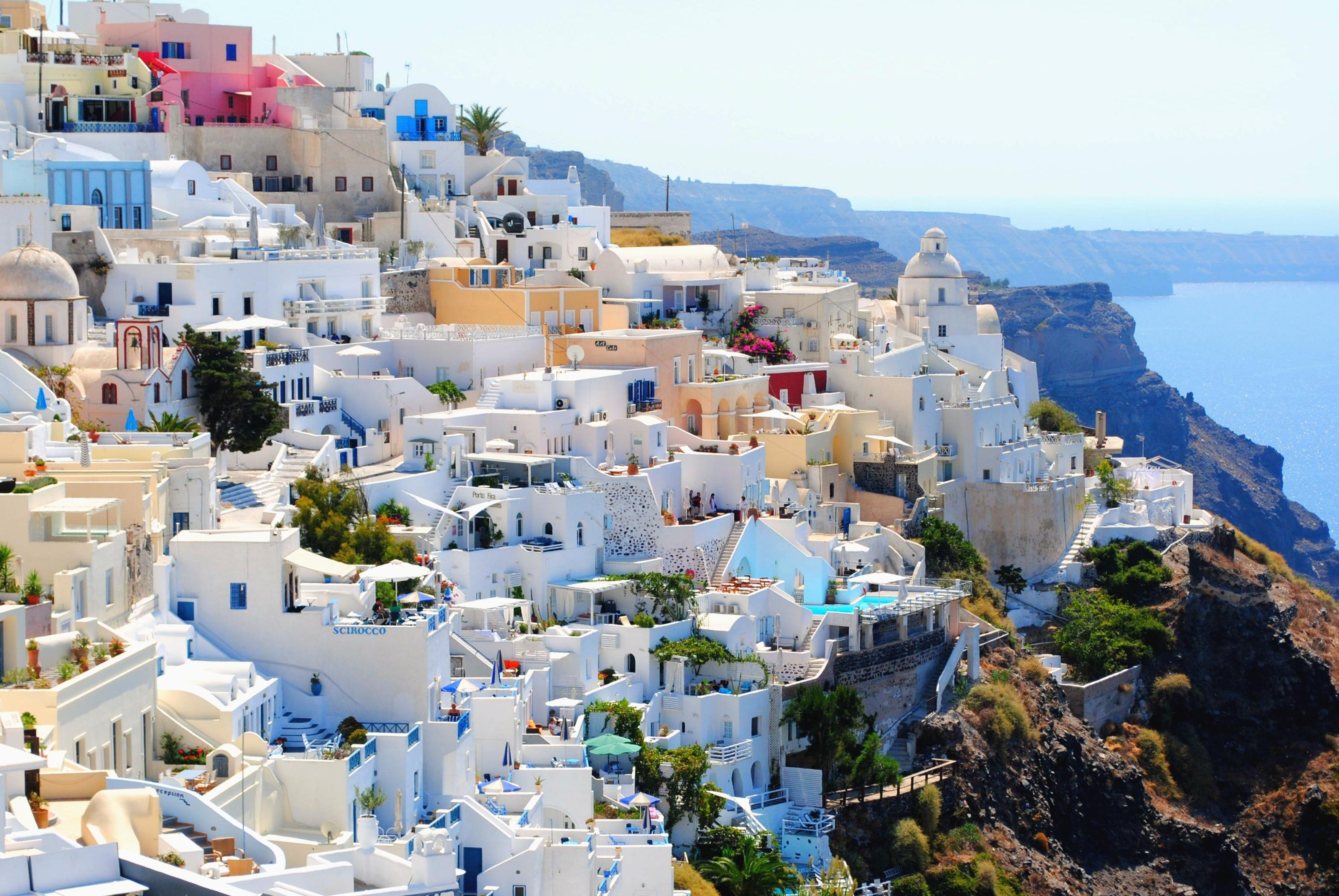 Santorinni Greece During Daytime Free Stock Photo