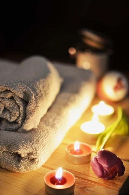 bath, bathroom, candlelight