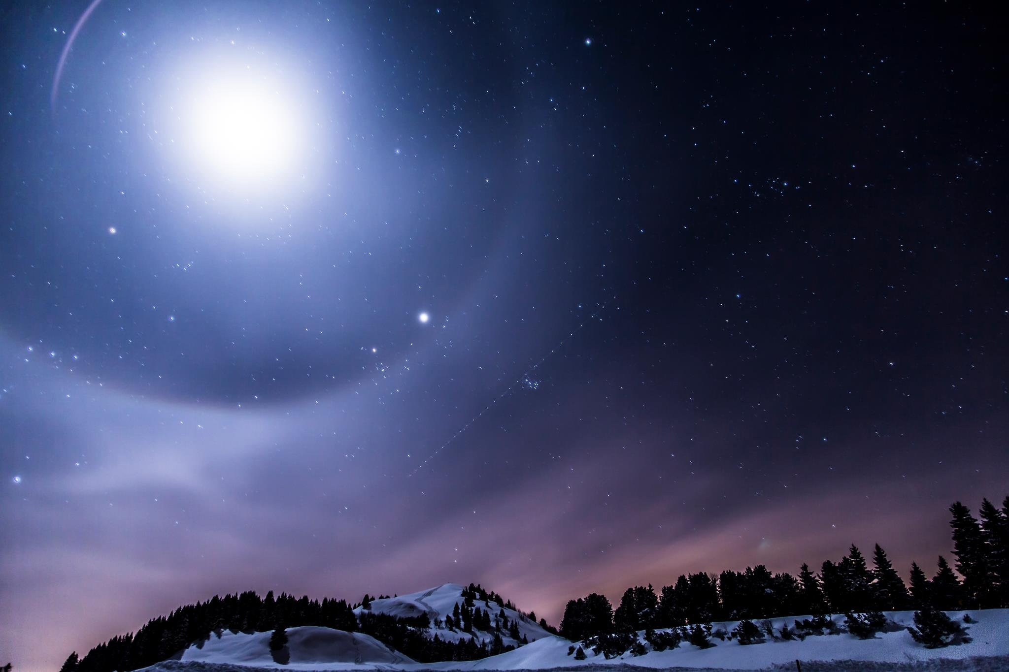 Anime Snow Wallpaper Scenic View Of Mountains Against Sky At Night 183 Free Stock