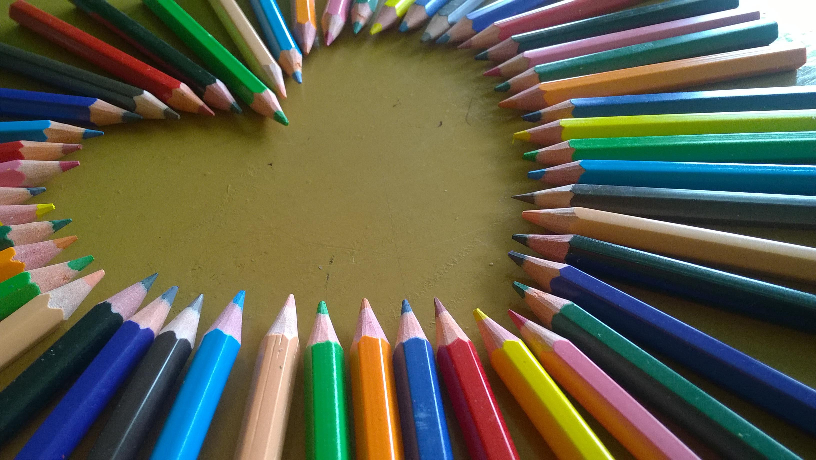Free Stock Photo Of Art Materials Close Up Color Pencil
