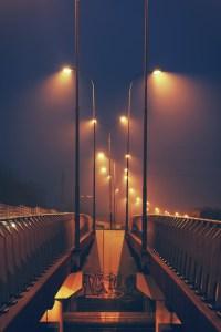 Streetlights by night  Free Stock Photo