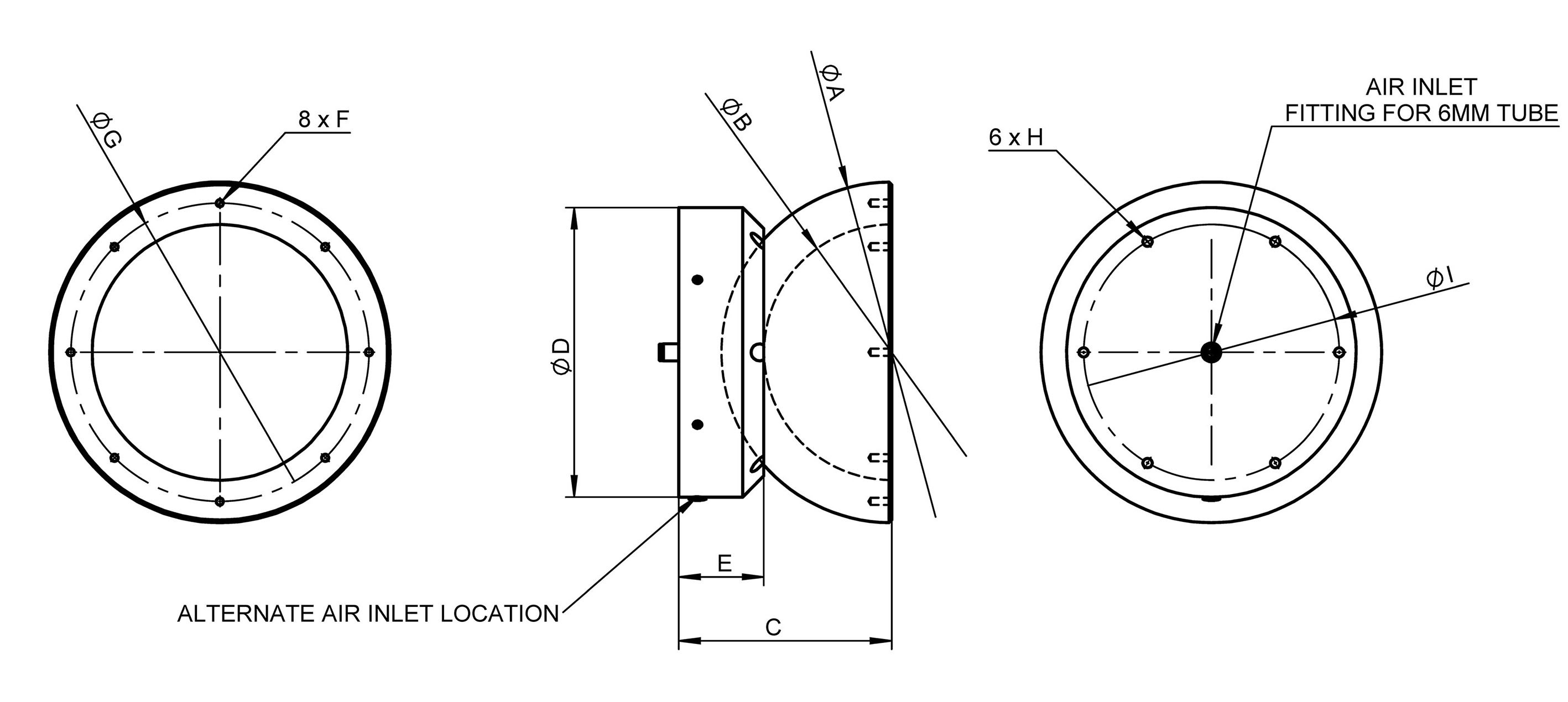 A-65x PIglide HB: Hemispherical Air Bearing