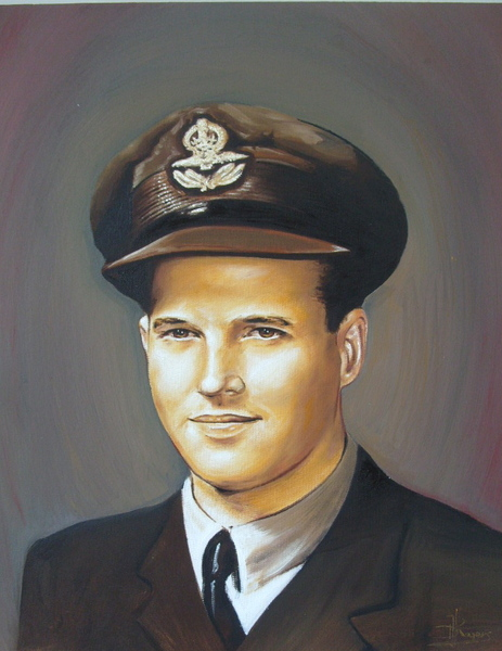 Guy Gibson  Dambusters Original Art by Daniel Rogers