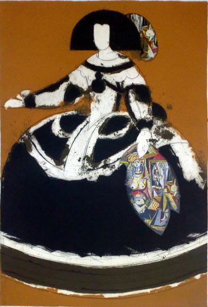 REINA MARIANA Original Art by Manolo Valds  PicassoMio