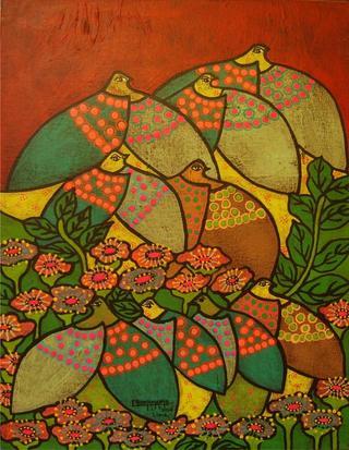 Serie Palomas: Entre Flores de Enrique Bustamante