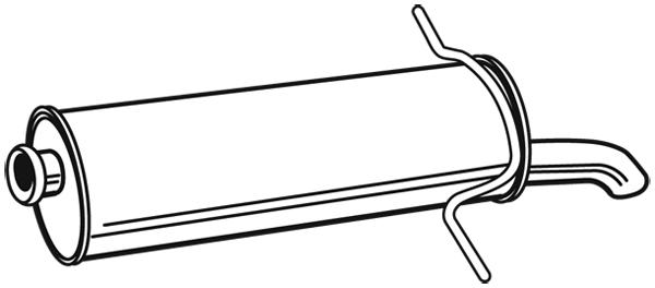 Silencieux arrière pour CITROËN Xsara Picasso 1.6 HDi