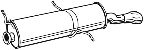Silencieux arrière pour PEUGEOT 306 Cabriolet (7D, N3, N5) 1.6